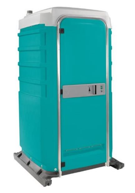 Deluxe portable toilet friendly john for Deluxe portable bathrooms